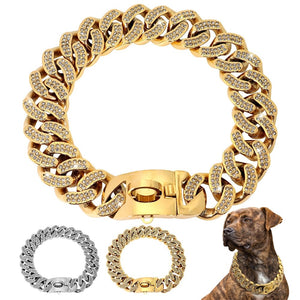 Medium/Large Gold Cuban Dog Collar