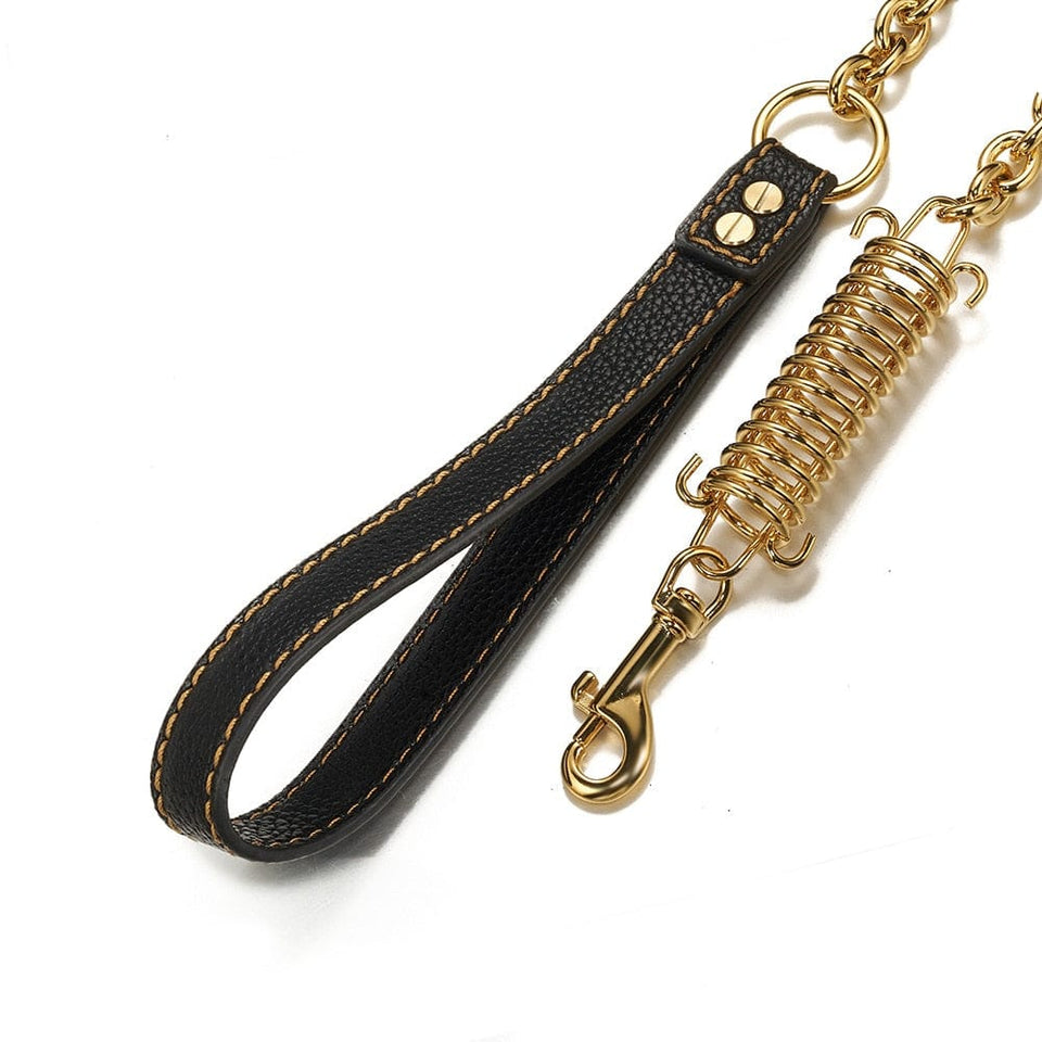 Gold/Silver Cuban Dog Rope Leash