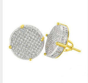 Thin Circle Bling Gold/Silver Stud Earrings - no-stylist-bling