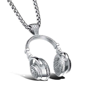 Hip Hop HeadPhones Chained Pendant Necklace - no-stylist-bling