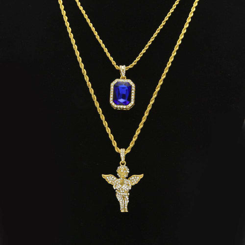 Luxurious Bling Stone and Angel Gold Chainz - no-stylist-bling