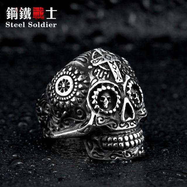 Tricked Out Skull Ring - no-stylist-bling