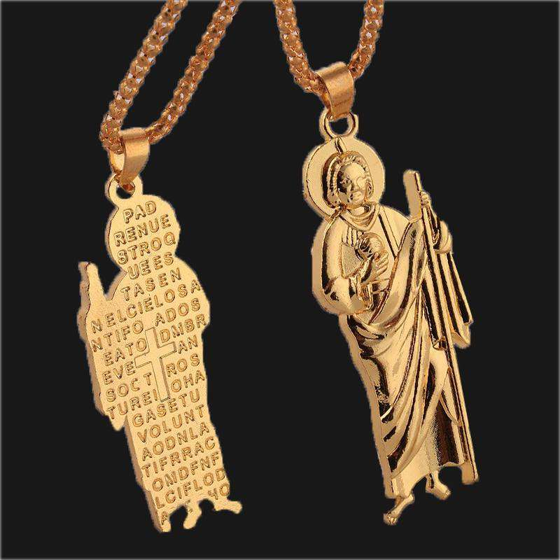 Padre Nuestro Pendant and Chain - no-stylist-bling