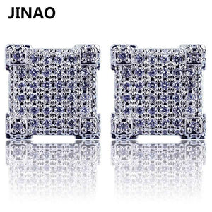 Thicc Square Bling Geometric Stud Earrings - no-stylist-bling