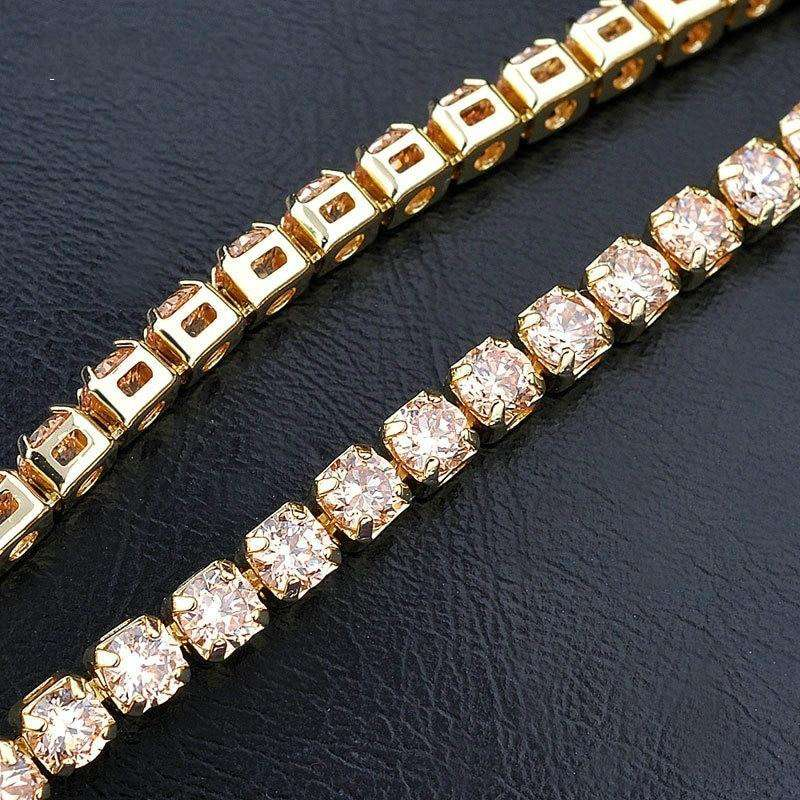 VVS 14k Gold Plated Tennis Bracelet - no-stylist-bling