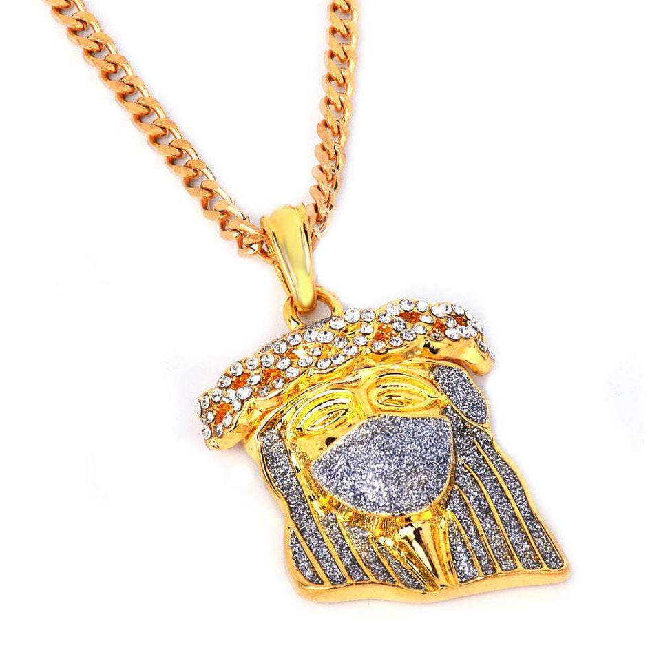 Iced Out Jesus Piece Necklace - no-stylist-bling