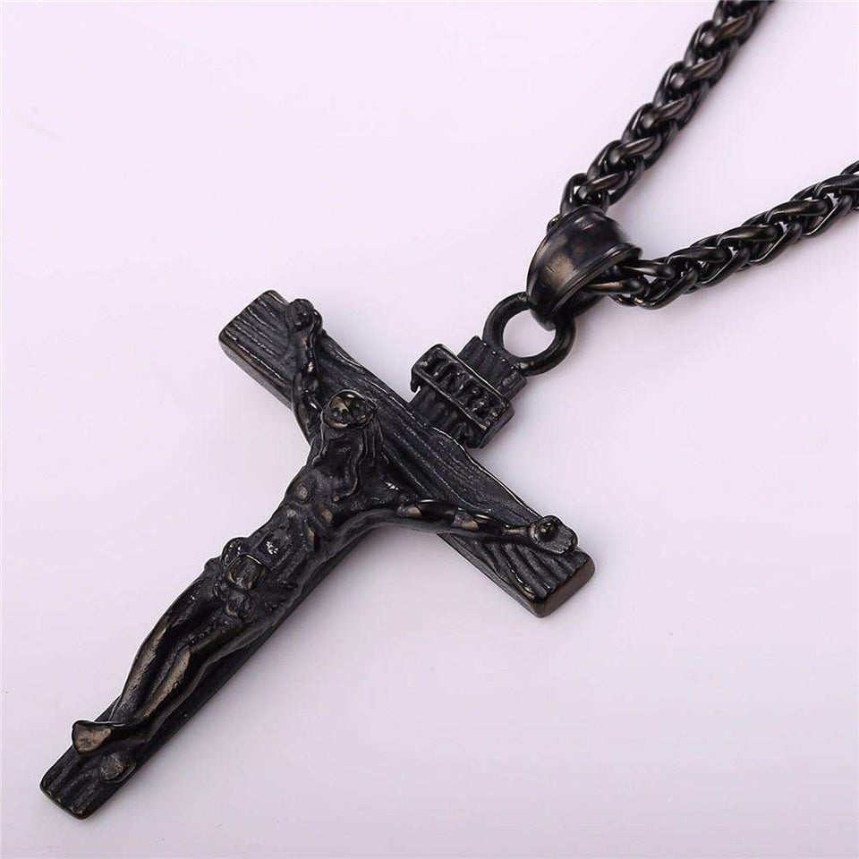 Crucifix Pendant Necklace - no-stylist-bling