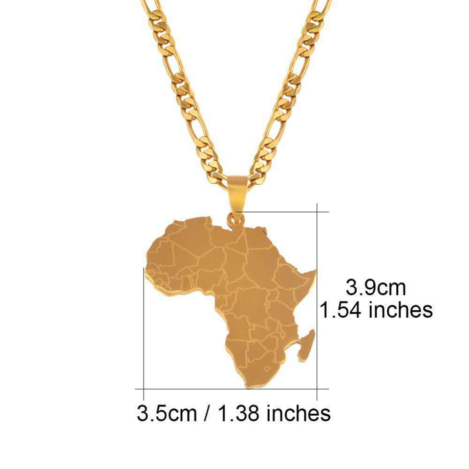 Africa Gold Continent Chain - no-stylist-bling