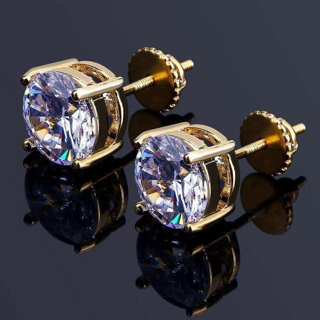 Classic Ice Stud Earrings - no-stylist-bling