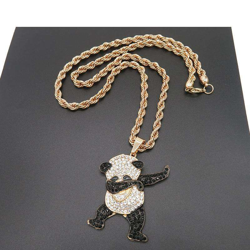 Blinged Out Dabbin' Panda Chain - no-stylist-bling