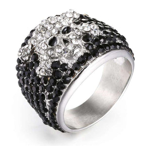 Skull & Bones Iced Out Ring