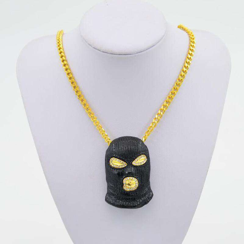 Black/Gold/Silver Goon Bling Pendant + Chain - no-stylist-bling