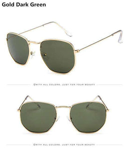Jumpan Metal Square Frame Sunglasses - no-stylist-bling