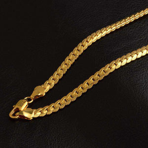 18k Gold Plated Snake Chain - no-stylist-bling