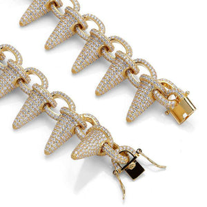 Gold/Silver Rivet Spike Bracelet