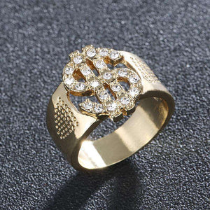 Tricked Out Gold $$$ Ring - no-stylist-bling