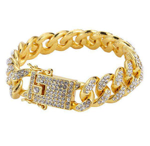 Iced Out VVS 18k Gold Plated Cuban Bracelet - no-stylist-bling