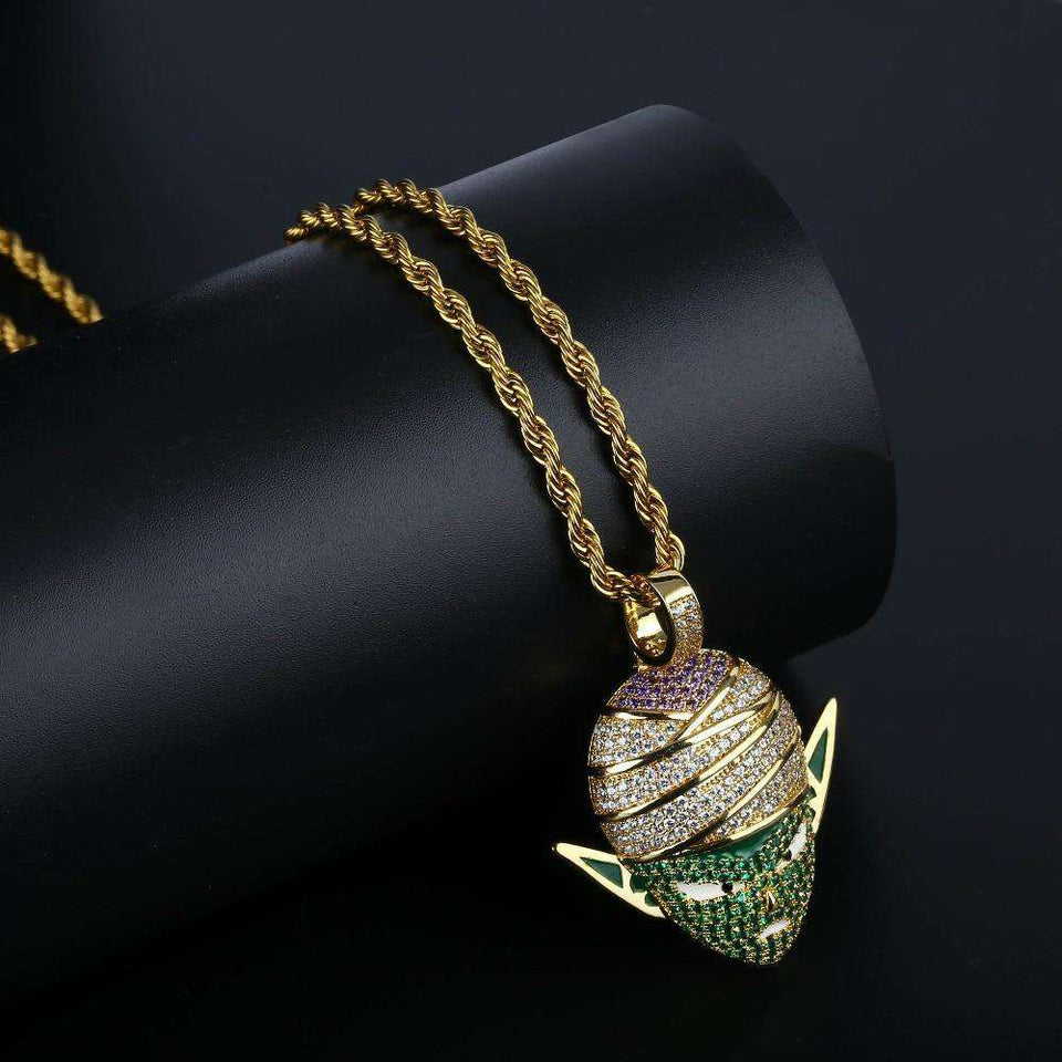 Blingy Piccolo Dragon Ball Z Cuban Pendant Necklace - no-stylist-bling
