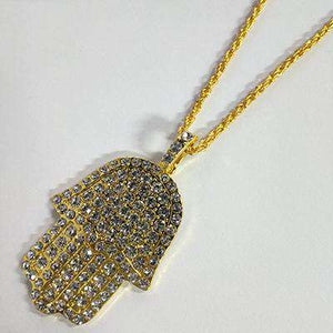 Namaste in Bling Hamsa Gold Chain - no-stylist-bling