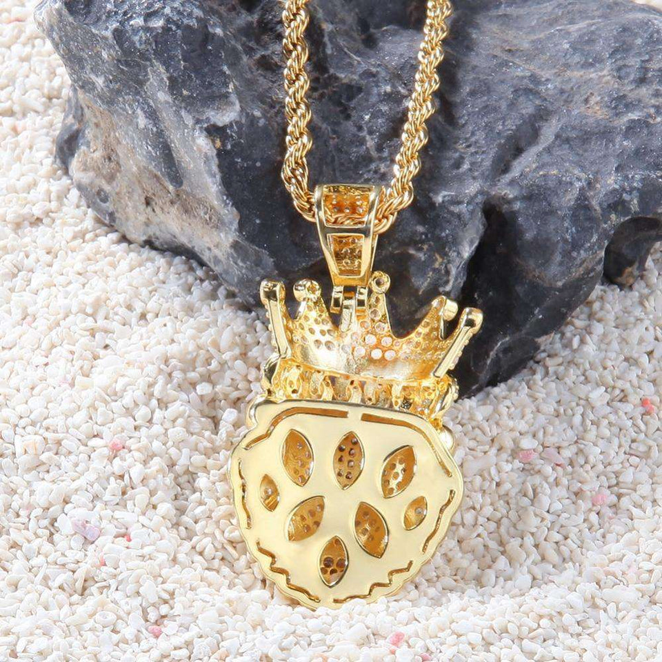 Iced Lion King Pendant Necklace - no-stylist-bling