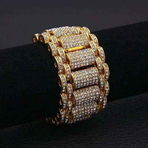 Iced Out Watch Band Bracelet - no-stylist-bling