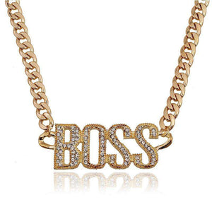 Boss Cuban Link Necklace - no-stylist-bling