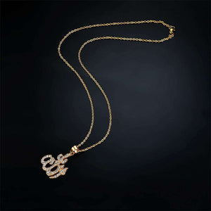 Allah  Bling Pendant Necklace - no-stylist-bling
