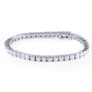 14k Solid Gold Moissanite 4mm Tennis Bracelet