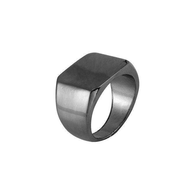Square Black/Gold/Silver Metal Ring - no-stylist-bling