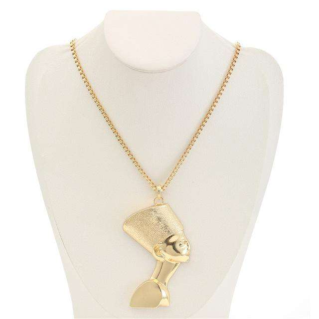 Gold Ancient Egypt Pendant Necklace - no-stylist-bling