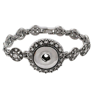 Silver Antique Snap Bracelet