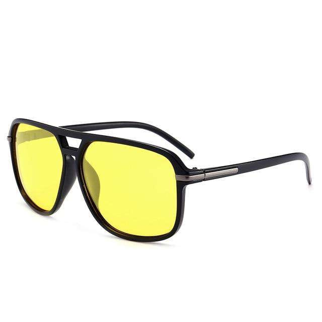 Stuntin' Black Square Frame Oversized Sunglasses - no-stylist-bling