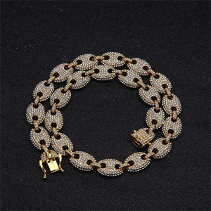 "8"" 18k Gold G-Link Bracelet - no-stylist-bling"