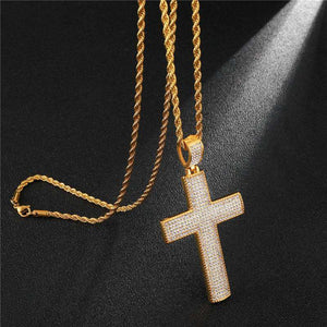 Iced Out VVS Cross Pendant - no-stylist-bling