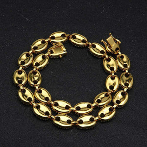 18k Gold CZ G-Link Chain - no-stylist-bling