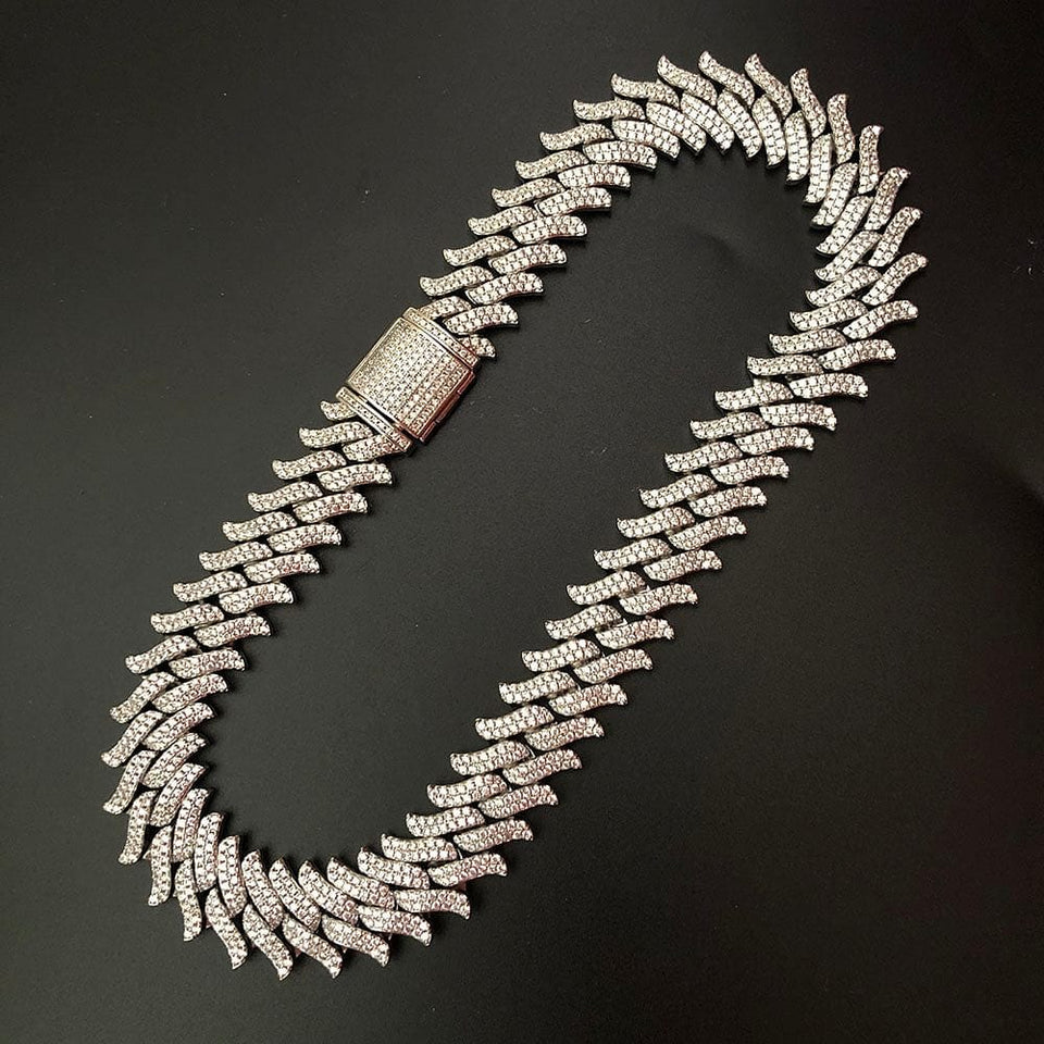 16mm Spiked Cuban Chain