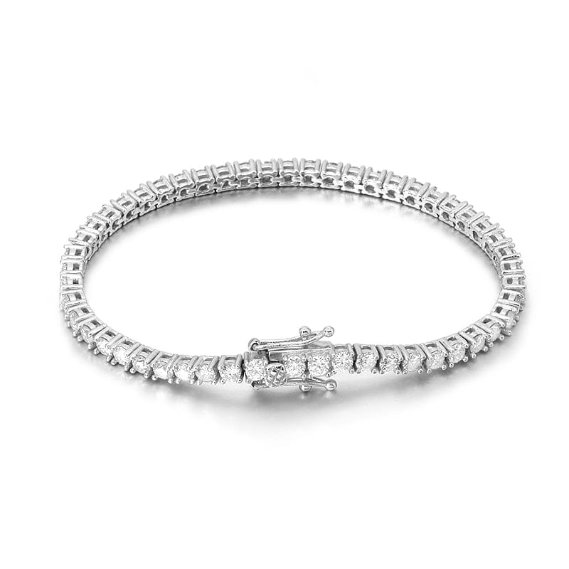 VVS Jewelry 10k Solid Gold VVS1 Moissanite Diamond 3mm Tennis Bracelet
