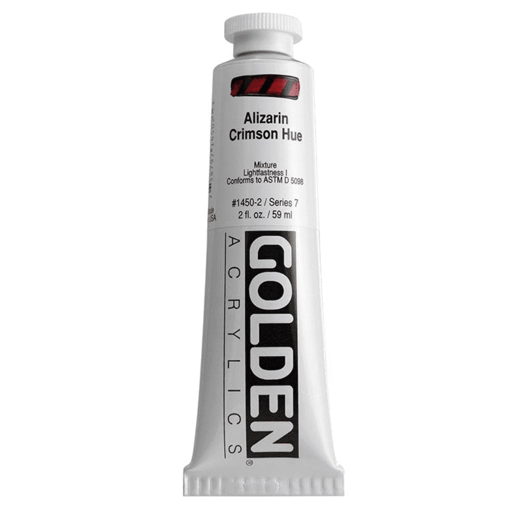 Golden Artist Colors (GAC) Heavy Body Acrylic Paint, 2-Ounce Tube, Alizarin Crimson Hue  (1450-2)