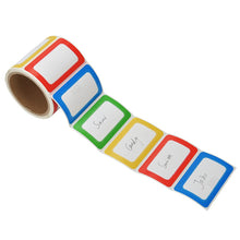 Load image into Gallery viewer, MFLABEL Colorful Labels - Plain Name Tag Labels - 200 Stickers per Roll