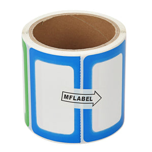 MFLABEL Colorful Labels - Plain Name Tag Labels - 200 Stickers per Roll