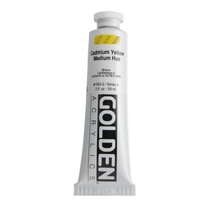 Golden Artist Colors (GAC) Heavy Body Acrylic Paint, 2-Ounce Tube, Cadmium Yellow Medium Hue (1554-2)