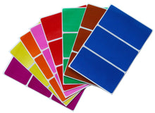 Load image into Gallery viewer, Royal Green Rectangular Peel and Stick Labels 4 x 2 in - 8 Colors, 24-Pack