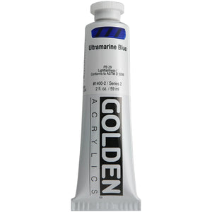 Golden Artist Colors (GAC) Heavy Body Acrylic Color Paints, 2-Ounce Tube, Ultramarine Blue (1400-2)