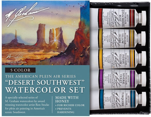 M. Graham & Co. Desert Southwest 5 Color Watercolor Set, 0.5 Fl Oz (15 mL)