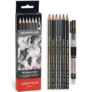 Caran d'Ache Water-Soluble Technalo Graphite 7 Piece Pencil Set