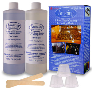 Alumilite Amazing Clear Cast Epoxy Resin Kit, Clear, High Gloss