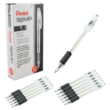 Load image into Gallery viewer, Pentel RSVP 1.0mm Medium Line Black Ink Pens - Box of 12 Pens (BK91-A)