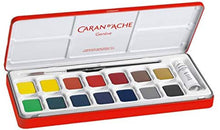 Load image into Gallery viewer, Caran d'Ache Gouache Studio 15 Assorted Colors Set in Metal Tin