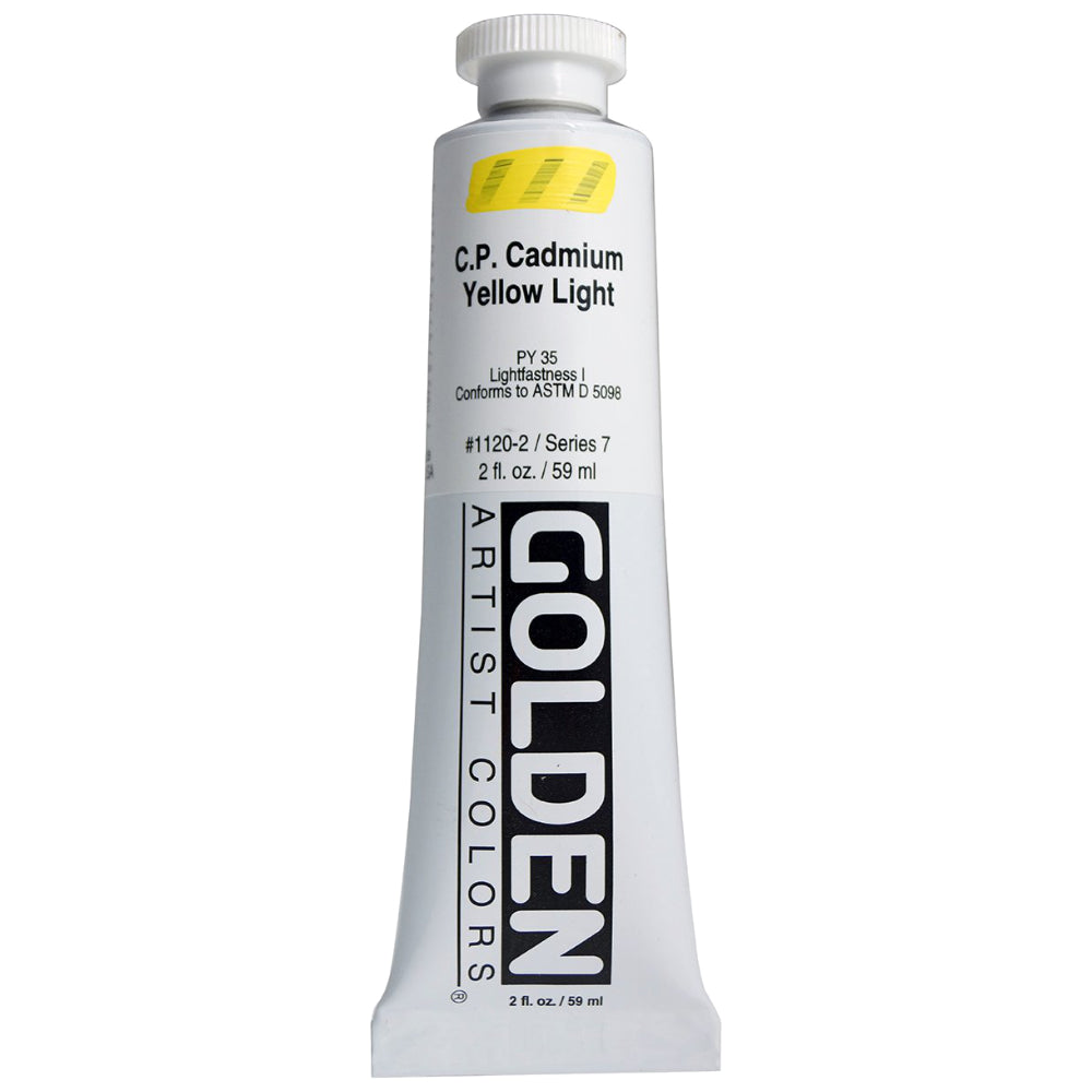 Golden Artist Colors (GAC) Heavy Body Acrylic Paint, 2-Ounce Tube, Cadmium Yellow Light (1120-2)