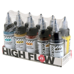 Golden Artist Colors (GAC) High Flow Acrylics, 10 Count Multi-Colored (Golden High Flow Acrylics (954-0)